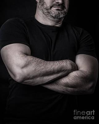 Portrait Of Man Poster by Edward Fielding