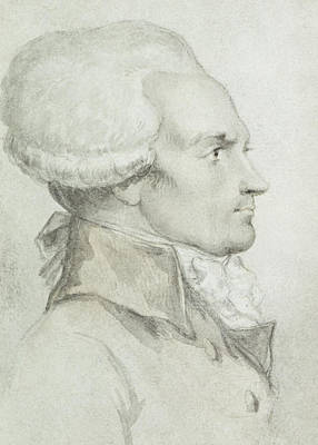 Portrait Of Maximilien De Robespierre Poster by Jean Michel the Younger Moreau