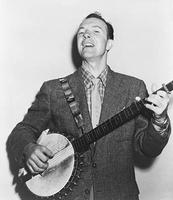 Portrait Of Pete Seeger Poster by Fred Palumbo