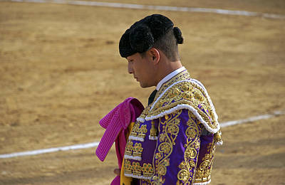 Portrait Of Salvador Vega During A Bullfight In The Bullring Poster by Perry Van Munster
