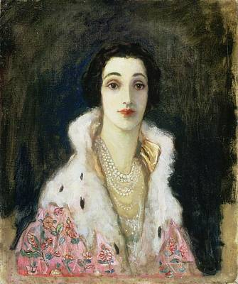 Portrait Of The Countess Of Rocksavage Poster by Sir John Lavery