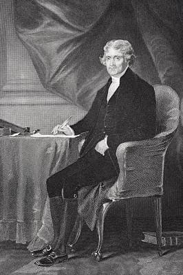 Portrait Of Thomas Jefferson Poster by Alonzo Chappel