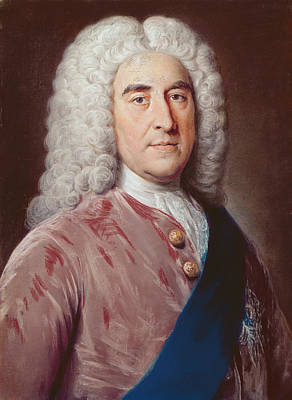 Portrait Of Thomas Pelham Holles 1693-1768 Duke Of Newcastle Under Lyme, Pastel On Paper Poster by William, of Bath Hoare