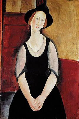 Portrait Of Thora Klinchlowstrom Poster by Amedeo Modigliani