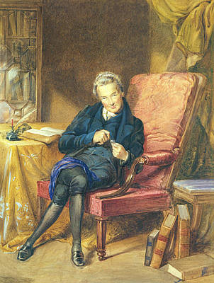 Portrait Of William Wilberforce 1759-1833 1833 Wc On Paper Poster by George Richmond