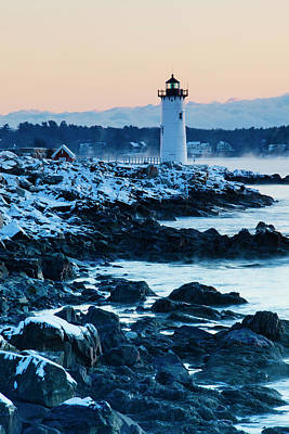 Portsmouth Harbor Lighthouse In New Poster by Jerry and Marcy Monkman