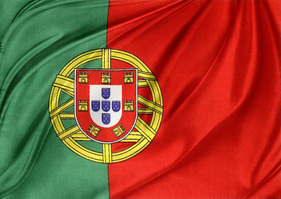 Portuguese Flag Poster by Les Cunliffe