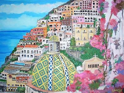 Positano Poster by Teresa Dominici