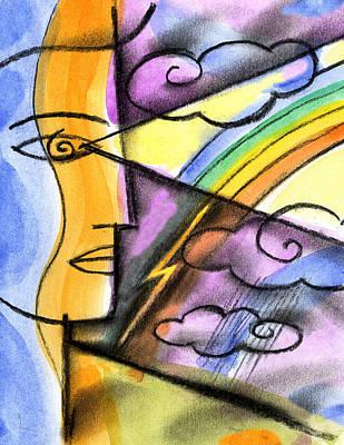 Positive Thinking Poster by Leon Zernitsky