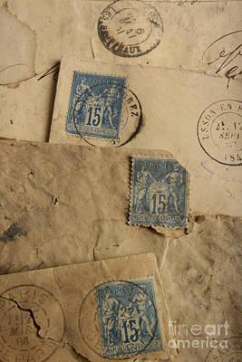 Postage Stamp Poster by Bernard Jaubert