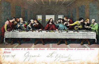 Postcard Of Last Supper Poster by Celestial Images