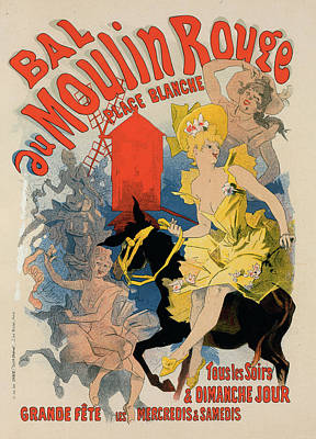 Poster For Bal Du Moulin Rouge. Paris Ball Poster by Liszt Collection