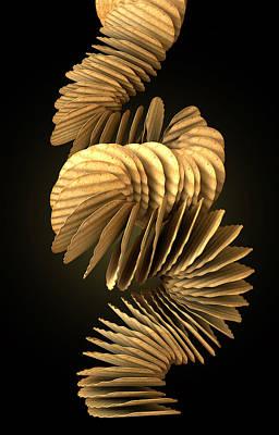 Potato Chip Stack Falling Poster by Allan Swart