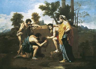 Poussin, Nicolas 1594-1665. Arcadian Poster by Everett