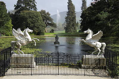 Powerscourt House Terrace And Fountain Poster by Christiane Schulze Art And Photography