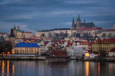Prague Castle Dawn Poster by Joan Carroll