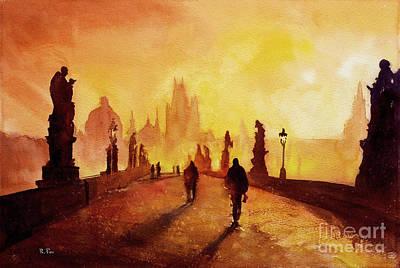 Prague Sunrise Poster by Ryan Fox