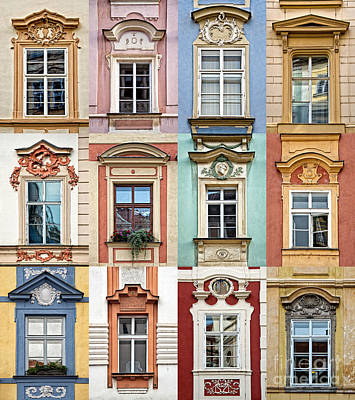 Prague Windows Poster by Delphimages Photo Creations