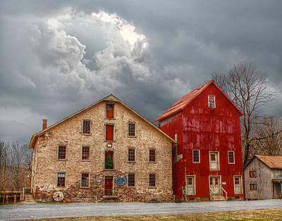 Prallsville Mill Storm Poster by Dustin Farnum