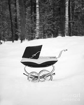 Pram In The Snow Poster by Edward Fielding