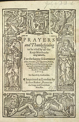 Prayers And Thanksgiving Poster by British Library