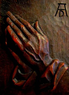 Praying Hands Poster by Joyce Woodhouse