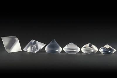 Pre-cut Diamond Forms Poster by Patrick Landmann
