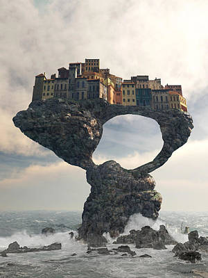 Precarious Poster by Cynthia Decker