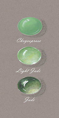 Precious Colored Gemstones Green Poster by Marie Esther NC