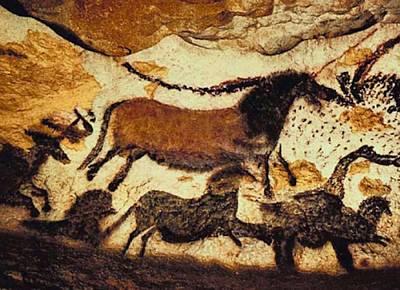 Prehistoric Stampede Poster by L Brown