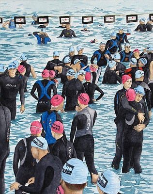 Preparing For The Swim Poster by Tanya Petruk