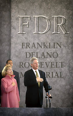 President And Mrs Clinton 1997 Poster by Mountain Dreams