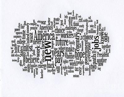 President Obama Acceptance Speech - 2012 Poster by David Bearden