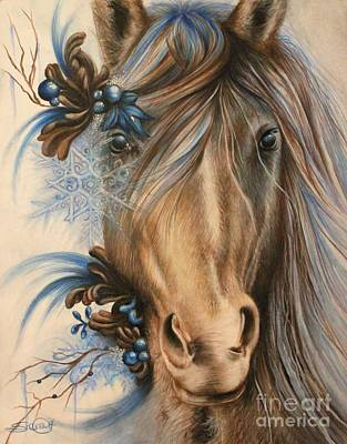 Pretty Blue Poster by Sheena Pike