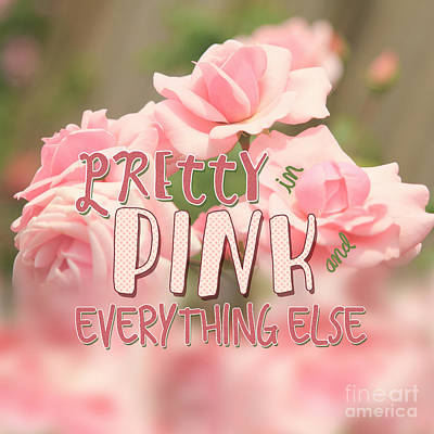 Pretty In Pink And Everything Else Hybrid Tea Roses Poster by Beverly Claire Kaiya