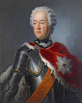 Prince Augustus William Oil On Canvas Poster by Antoine Pesne