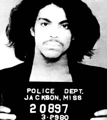 Prince Mugshot Poster by Bill Cannon