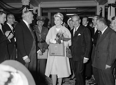 Princess Grace In Ireland 1961 Poster by Irish Photo Archive