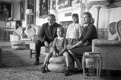 Princess Grace Of Monaco And Family In Ireland Poster by Irish Photo Archive