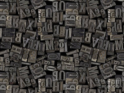 Printing Letters 2 Poster by Bedros Awak