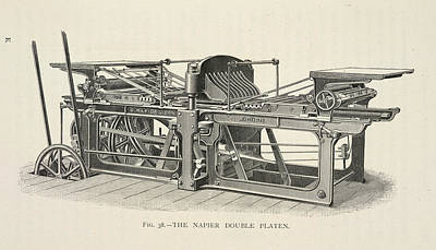 Printing Machine Poster by British Library