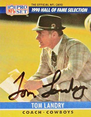 Pro Football Coach Tom Landry Poster by Donna Wilson