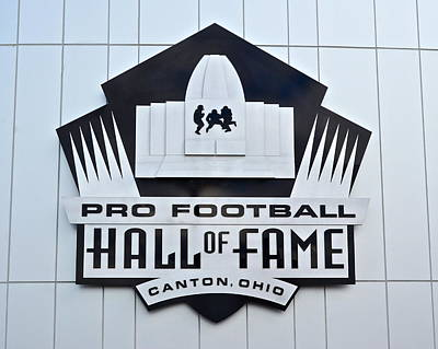 Pro Football Hall Of Fame Poster by Frozen in Time Fine Art Photography