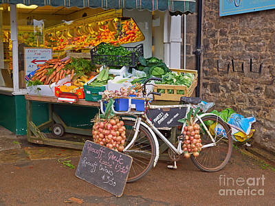 Produce Market In Corbridge Poster by Louise Heusinkveld