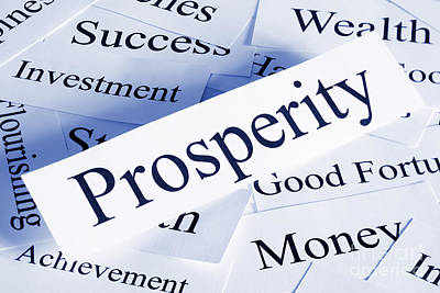 Prosperity Concept Poster by Colin and Linda McKie