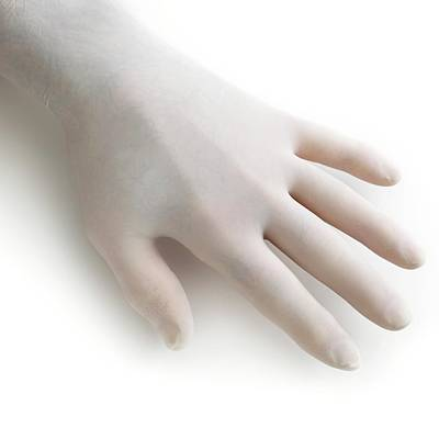Protective Latex Glove Poster by Science Photo Library