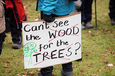Protest Against Public Forest Selloff Poster by Ashley Cooper