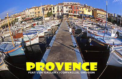 Provence Fisheye View II Poster by Mike Moore FIAT LUX