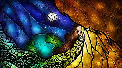 Psalm 91-4 Poster by Mandie Manzano