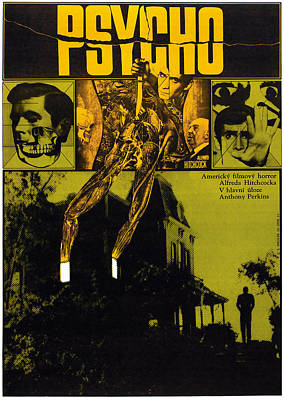 Psycho, L-r Anthony Perkins, Alfred Poster by Everett